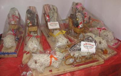 Cesto natalizio con bresaola artigianale